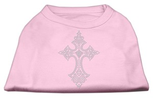 Rhinestone Cross Shirts Light Pink XXXL(20)