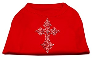 Rhinestone Cross Shirts Red XS (8)