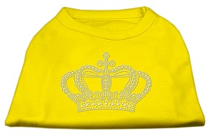 Rhinestone Crown Shirts Yellow XL (16)