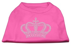 Rhinestone Crown Shirts Bright Pink L (14)