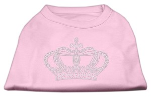 Rhinestone Crown Shirts Light Pink XL (16
