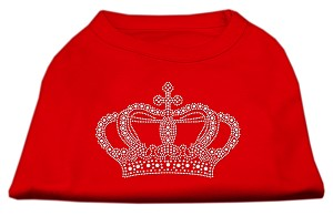 Rhinestone Crown Shirts Red XL (16