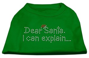 Dear Santa I Can Explain Rhinestone Shirts Emerald Green XXXL (20)