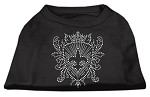 Rhinestone Fleur De Lis Shield Shirts Black XL (16)