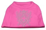 Rhinestone Fleur De Lis Shield Shirts Bright Pink S (10)