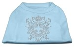 Rhinestone Fleur De Lis Shield Shirts Baby Blue XL (16)