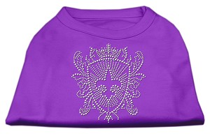 Rhinestone Fleur De Lis Shield Shirts Purple S (10)