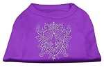 Rhinestone Fleur De Lis Shield Shirts Purple XS (8)