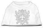 Rhinestone Fleur De Lis Shield Shirts White XL (16)