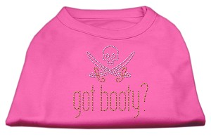 Got Booty? Rhinestone Shirts Bright Pink XL (16