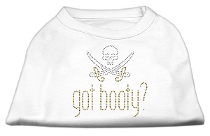 Got Booty? Rhinestone Shirts White L (14)