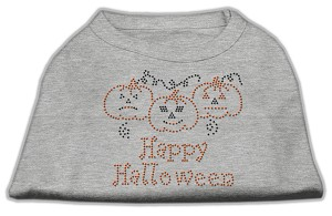 Happy Halloween Rhinestone Shirts Grey M (12)