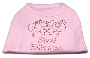 Happy Halloween Rhinestone Shirts Light Pink M (12)