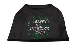 Happy St. Patrick's Day Rhinestone Shirts Black XL (16)