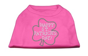 Happy St. Patrick's Day Rhinestone Shirts Bright Pink XXXL(20)
