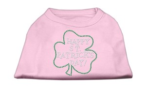 Happy St. Patrick's Day Rhinestone Shirts Light Pink XXXL(20)