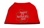 Happy St. Patrick's Day Rhinestone Shirts Red L (14)