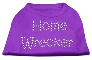 Home Wrecker Rhinestone Shirts Purple L (14)