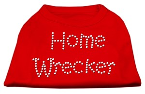 Home Wrecker Rhinestone Shirts Red XXXL(20)