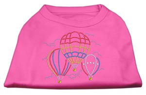 Hot Air Balloon Rhinestone Shirts Bright Pink XL (16