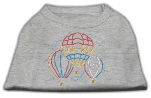 Hot Air Balloon Rhinestone Shirts Grey M (12)