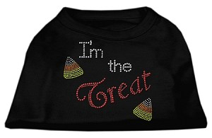 I'm the Treat Rhinestone Dog Shirt Black Lg (14)