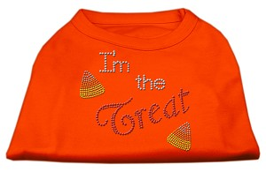 I'm the Treat Rhinestone Dog Shirt Orange XXXL (20)