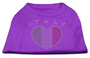 Italy Rhinestone Shirts Purple XL (16)