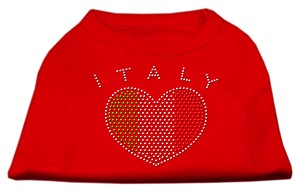 Italy Rhinestone Shirts Red XL (16)