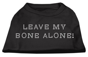 Leave My Bone Alone! Rhinestone Shirts Black S (10)