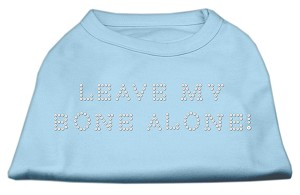 Leave My Bone Alone! Rhinestone Shirts Baby Blue S (10)