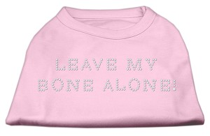 Leave My Bone Alone! Rhinestone Shirts Light Pink L (14)