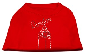 London Rhinestone Shirts Red M (12)