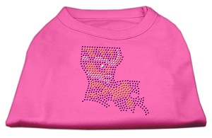 Louisiana Rhinestone Shirts Bright Pink XXXL(20)