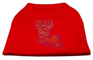 Louisiana Rhinestone Shirts Red XS (8)