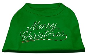 Merry Christmas Rhinestone Shirt Emerald Green XL (16)