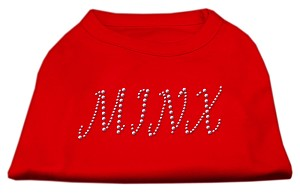 Minx Rhinestone Shirts Red XXL (18)