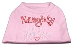 Naughty But Nice Rhinestone Shirts Light Pink XS (8)