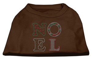 Noel Rhinestone Dog Shirt Brown Sm (10)