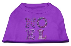 Noel Rhinestone Dog Shirt Purple XXL (18)