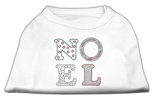 Noel Rhinestone Dog Shirt White Lg (14)