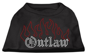 Outlaw Rhinestone Shirts Black S (10)