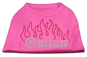 Outlaw Rhinestone Shirts Bright Pink L (14)