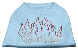 Outlaw Rhinestone Shirts Baby Blue XL (16)