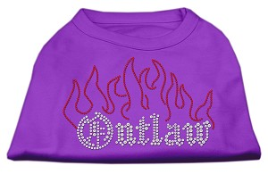 Outlaw Rhinestone Shirts Purple XL (16)