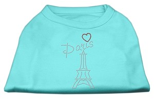 Paris Rhinestone Shirts Aqua XL (16)