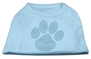 Blue Paw Rhinestud Shirt Baby Blue XL (16)