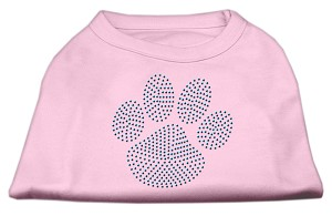 Blue Paw Rhinestud Shirt Light Pink S (10)