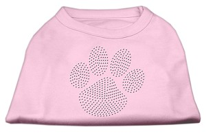 Clear Rhinestone Paw Shirts Light Pink M (12)
