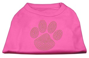 Gold Paw Rhinestud Shirt Bright Pink S (10)